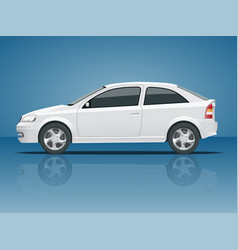 Set of blue sedan car template for auto branding vector