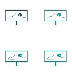 Set of stylish sticker on paper Presentation of vector image