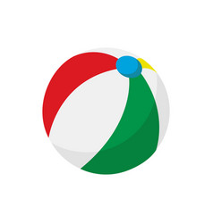 simple beach ball cartoon vector image
