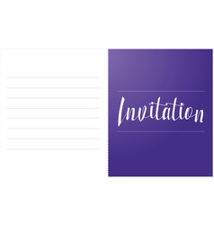 Simple invitation card design style collection vector