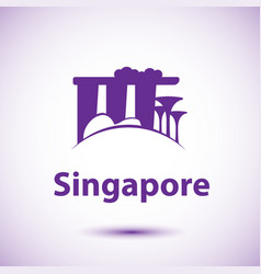 singapore detailed silhouette trendy vector image