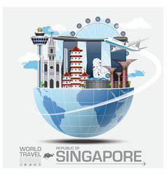 Singapore Landmark Global Travel And Journey vector image