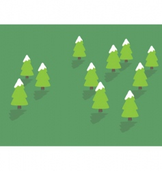 snowy trees vector image