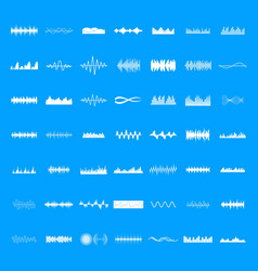 sound wave icons set simple style vector image