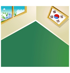 South Korean Room Background vector image
