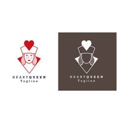 Stylized image queen hearts for avatar vector