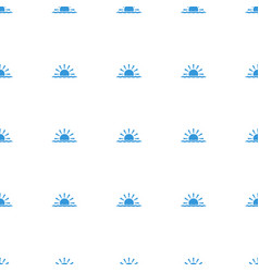 sun rise icon pattern seamless white background vector image