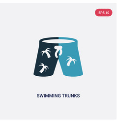 Two color swimming trunks icon from summer vector