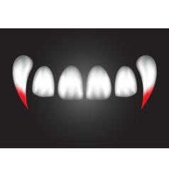 Vampire teeth witk bloodeps 10 vector