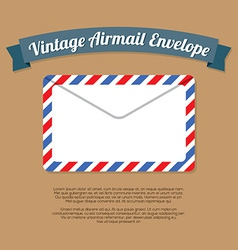Vintage Mail Envelope vector image