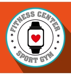 watch sport gym vector image