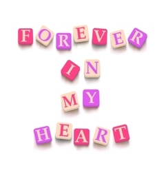Words forever in my heart vector image