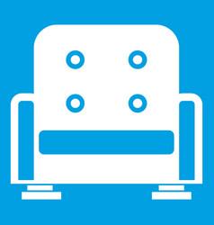 armchair icon white vector image