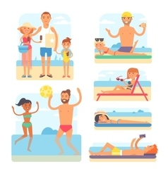 Beach people vector image