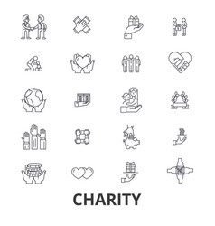 charity donation volunteer fundraising vector image