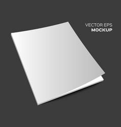 isolated blank magazine mockup vector image vector image