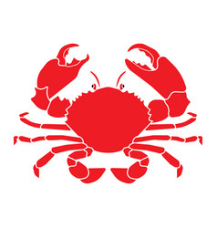 red crab vector image vector image