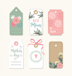 set of romantic mothers day birthday or wedding vector image vector image