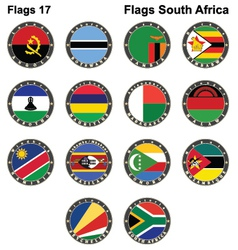 World flags South Africa vector image
