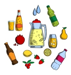 Beverages alcohol and drinks set vector image vector image
