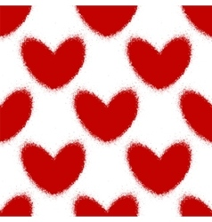 Blood splatters and hearts seamless pattern vector image vector image