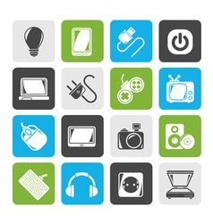 Electronic Devices objects icons vector image