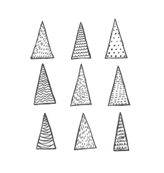 Fir trees set vector image