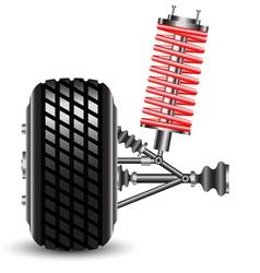 Front car suspension vector image vector image