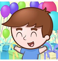 Kid celebrating birthday vector image vector image