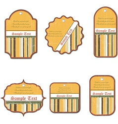 set of vintage labels isolated on white background vector image