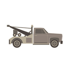 tow truck flat icon for transportation faults and vector image