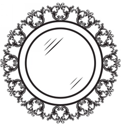 Vintage round ornamented frame vector image vector image