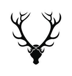 Deer head black simple icon vector image vector image