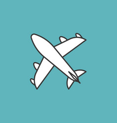 plane icon thin line vector image vector image