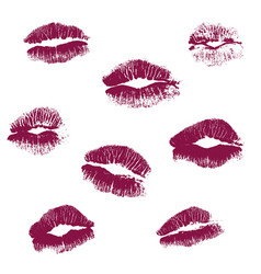 real kiss lipstick of female vector image