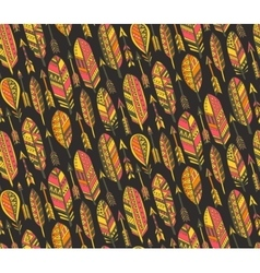 seamless pattern with ornate tribal vector image vector image