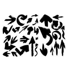 Set of grunge arrows vector image vector image