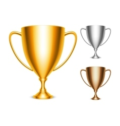 Trophy Cup Icons vector image vector image
