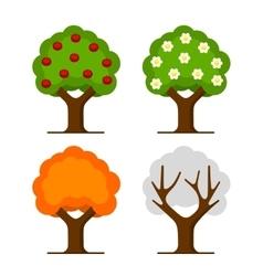 Apple Tree Set vector image vector image