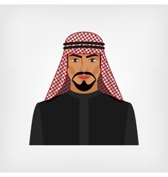 Arab man in traditional clothes vector image vector image