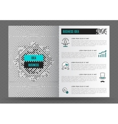 Business brochure design template layout Line icon vector image