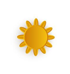 cartoon sun icon symbol isolated vector image