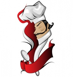 chef logo with banner vector image