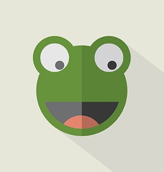 Modern Flat Design Frog Icon vector image