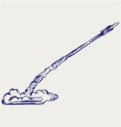 Retro rocket vector image