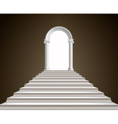 Staircase and arch vector image