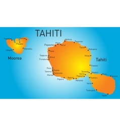 Tahiti vector image