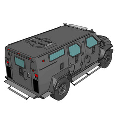 3d on white background armed military vehicle vector
