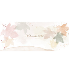 Abstract art autumn background with pastel maple vector