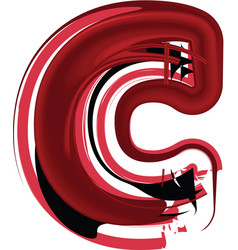 abstract letter c vector image